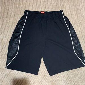 Adidas Climalite black and white basketball shorts